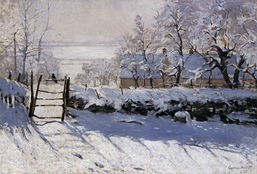 「かささぎ」(1868-1869年)クロード・モネ