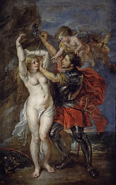 「アンドロメダを救うペルセウス」(1639-41年) ルーベンス、ヤーコプ・ヨルダーンス