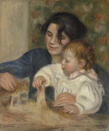 「ガブリエルとジャン」(1895年)ピエール=オーギュスト・ルノワール