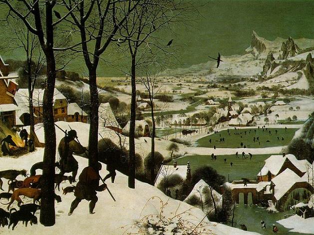 「雪中の狩人」(1565年)ピーテル・ブリューゲル1世