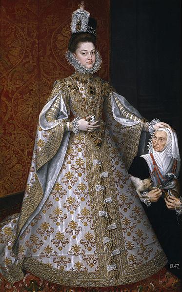 「王女イサベル・クララ・エウヘニアとマグダレーナ・ルイス」(1585-88年)アロンソ・サンチェス・コエーリョ