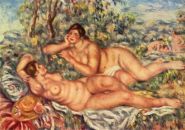「浴女たち」(1918‐1919年)ピエール=オーギュスト・ルノワール