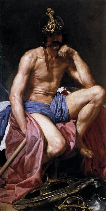 『マルス』(1638年頃)ディエゴ・ベラスケス