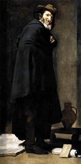 『メニッポス』(1638年頃)ディエゴ・ベラスケス