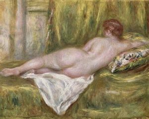 「後ろ姿の横たわる裸婦」(1915‐1917年)ピエール=オーギュスト・ルノワール