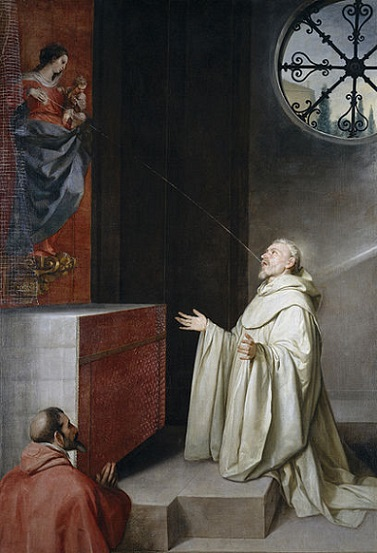 「聖ベルナルドゥスと聖母」(1657-60年)アロンソ・カーノ