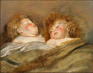 「眠る2人の子供」(1612年頃)ペーテル・パウル・ルーベンス