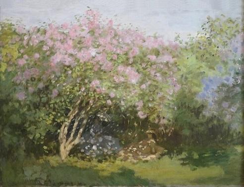 『陽だまりのライラック』(1872年)クロード・モネ