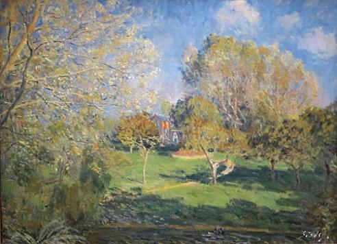 『オシュデの庭、モンジュロン』(1881年)アルフレッド・シスレー