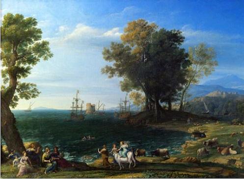 『エウロペの掠奪』(1655年)クロード・ロラン