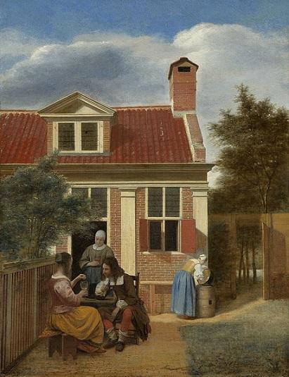 「人の居る裏庭」(1663-1665年)ピーテル・デ・ホーホ