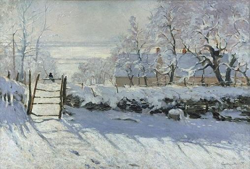 クロード・モネ「かささぎ」(1868~69年)