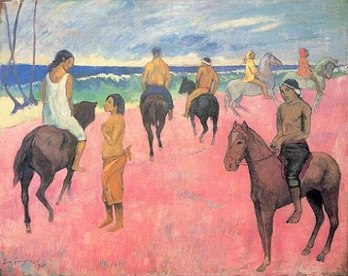 ポール・ゴーギャン「海辺の騎手たち」(1902年)