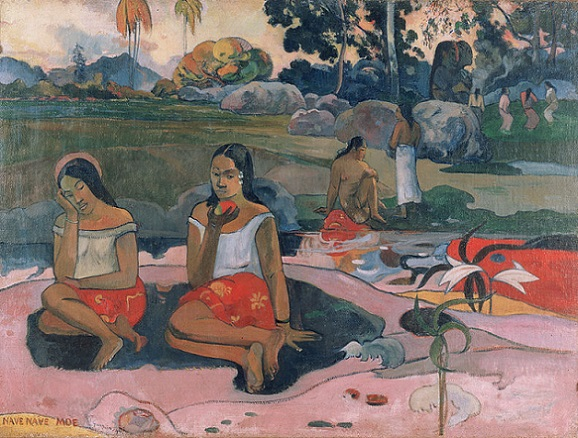「ナヴェ・ナヴェ・モエ(聖なる泉)」(1894年)ポール・ゴーギャン