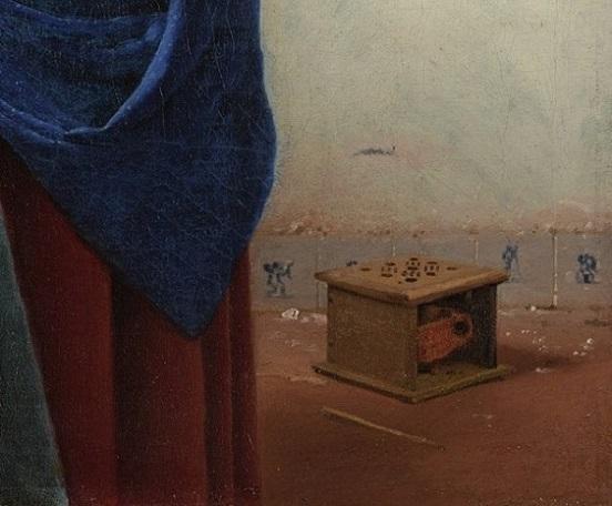 「牛乳を注ぐ女(detail)」(1658-1660年)ヨハネス・フェルメール