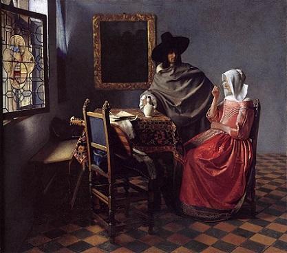 「ワイングラス」(1661-1662年)ヨハネス・フェルメール