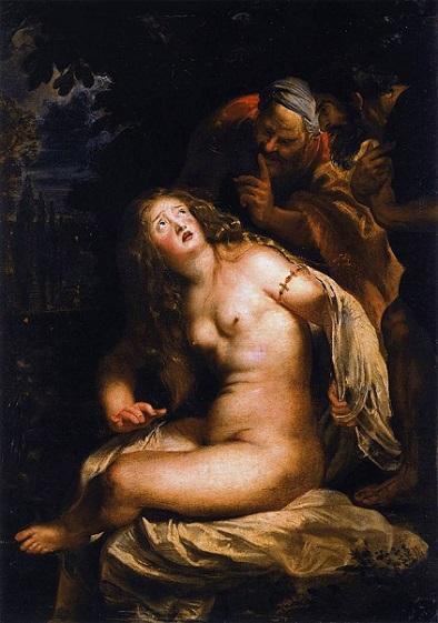 「スザンナと長老たち」(1606-07年)ルーベンス