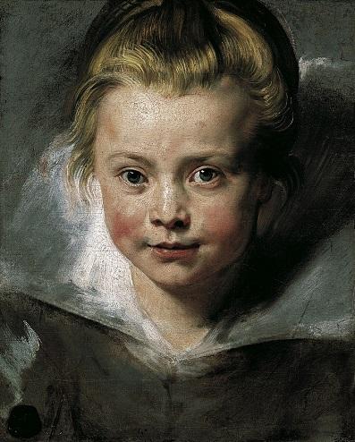 「クララ・セレーナ・ルーベンスの肖像」(1615-16年)ルーベンス