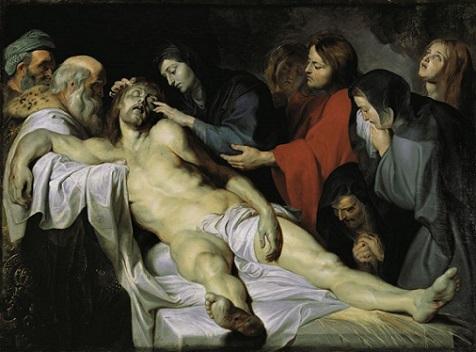 「キリスト哀悼」(1612年)ルーベンス