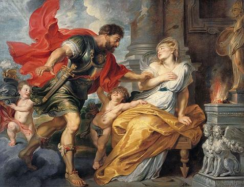「マルスとレア・シルウィア 」(1616-17年)ルーベンス