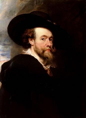 「自画像」(1623年)ルーベンス