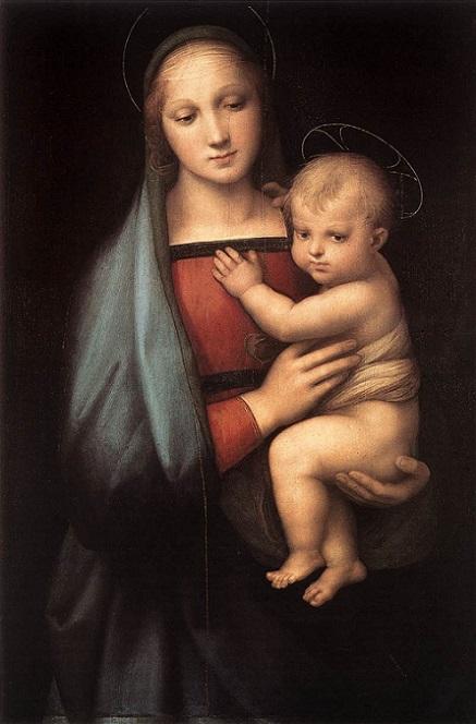「大公の聖母」(1505年)ラファエロ・サンティ