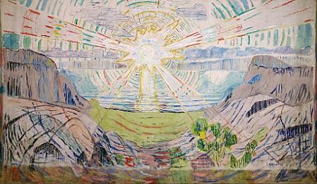 「太陽」(1910-11年)エドヴァルド・ムンク