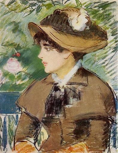 「ベンチにて」(1879年)エドゥアール・マネ