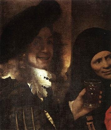 「取り持ち女」※detail(1656年)ヨハネス・フェルメール