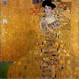 「アデーレ・ブロッホ=バウアーの肖像 I」(1907年)グスタフ・クリムト