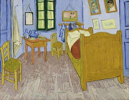「アルルの寝室」(1889年)フィンセント・ファン・ゴッホ