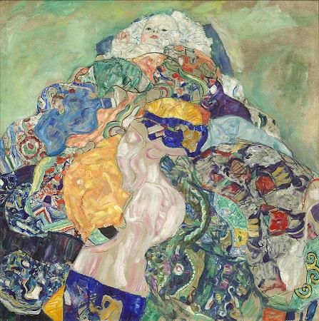 「赤子(ゆりかご)」(1917年)グスタフ・クリムト