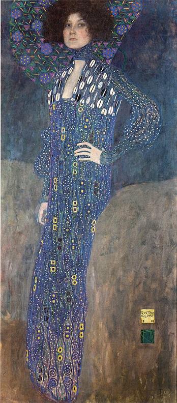 「エミーリエ・フレーゲの肖像」グスタフ・クリムト