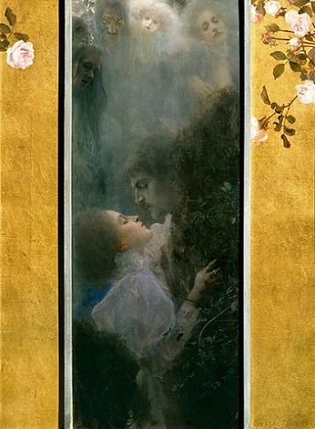 「≪愛≫『アレゴリー:新連作』のための原画」(1895年)グスタフ・クリムト