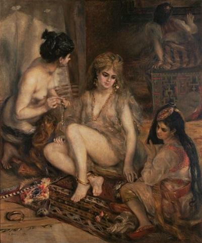「アルジェリア風のパリの女たち」(1872年)ピエール=オーギュスト・ルノワール