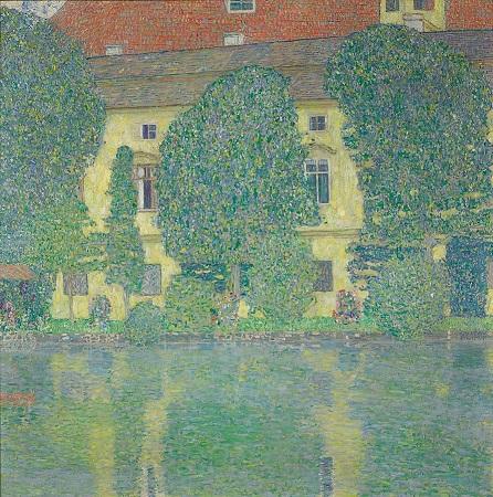 「アッター湖畔のカンマー城lll」(1909-10年)グスタフ・クリムト