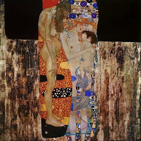 「女の三世代」(1905年)グスタフ・クリムト