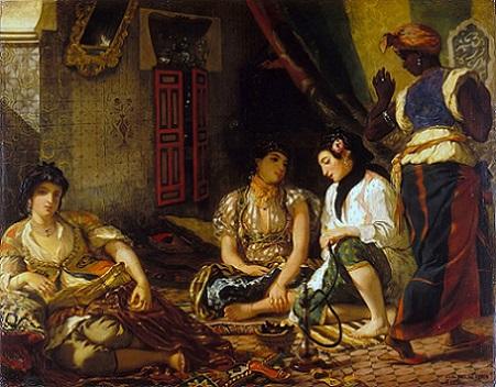 「アルジェの女たち」(1834年)ウジェーヌ・ドラクロワ
