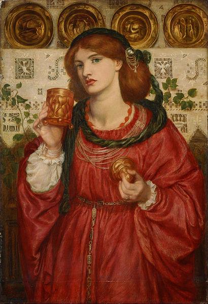 「愛の杯」(1867年)ダンテ・ガブリエル・ロセッティ