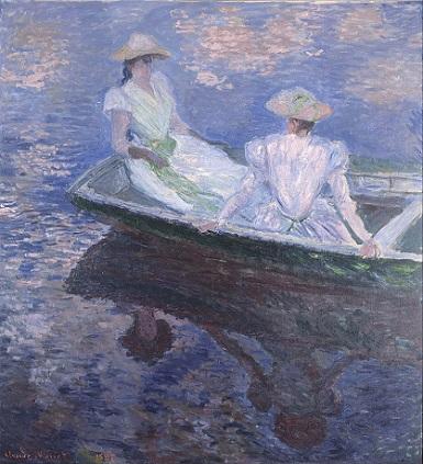 「舟遊び」(1887年)クロード・モネ