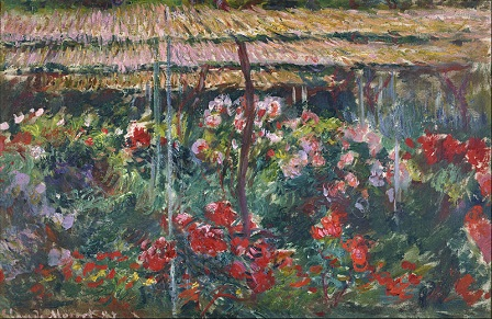 「芍薬の花園」(1887年)クロード・モネ