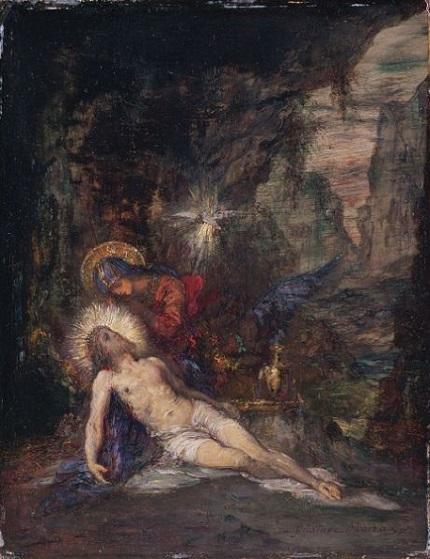 「ピエタ」(1876年)ギュスターヴ・モロー