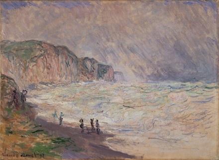 「波立つプールヴィルの海」(1897年)クロード・モネ