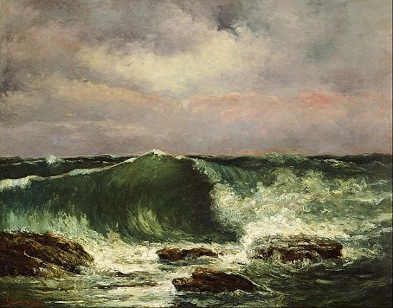 「波」(1870年頃)ギュスターヴ・クールベ