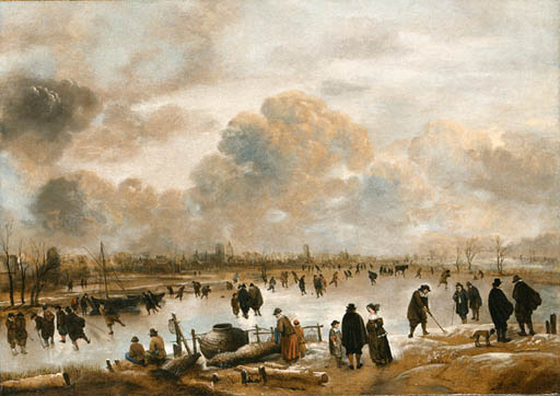 「オランダの冬景色」(1650-1655年)アールト・ファン・デル・ネール