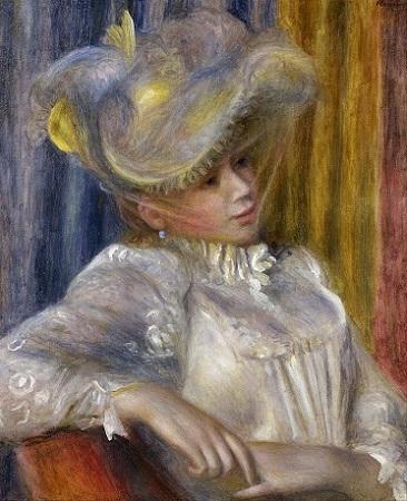 「帽子の女」(1891年)ピエール=オーギュスト・ルノワール