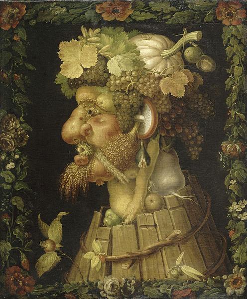 「秋」(1573年)ジュゼッペ・アルチンボルド