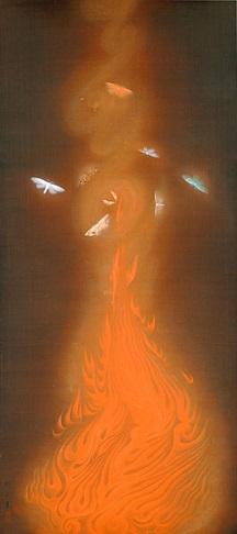 「炎舞」(1925年)速水御舟