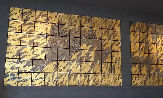 陶板壁画《千羽鶴》…山種美術館より