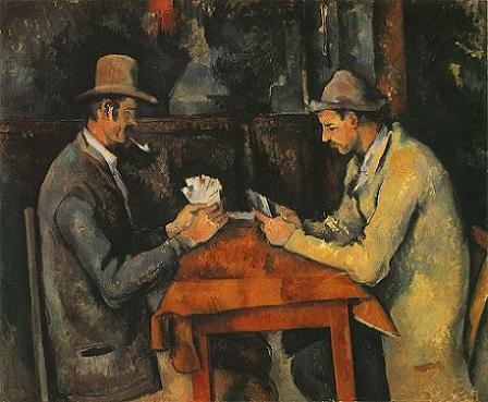 「カード遊びをする人々」(1892年-96年)ポール・セザンヌ